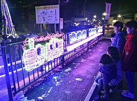 会津坂下駅を彩るイルミネーション