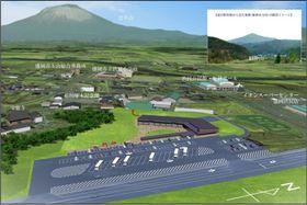 盛岡市渋民に整備予定の道の駅の完成イメージ図(盛岡市提供)