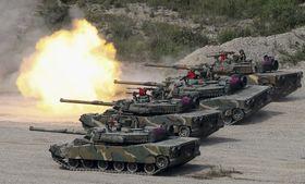 2017年9月、韓国・浦項で実施された米韓合同軍事演習(聯合=共同)