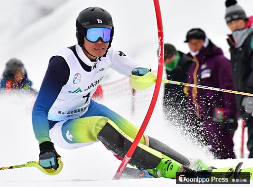 高校スキー 男子回転 平井(東義)大健闘3位