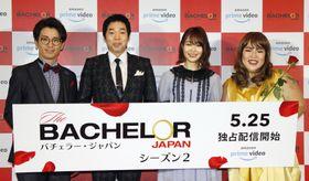 イベントに登場した(左から)藤森慎吾、今田耕司、指原莉乃、ゆりやんレトリィバァ=23日、東京都内