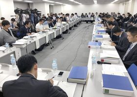 海賊版サイト対策を検討する政府の有識者会議=15日、東京都千代田区