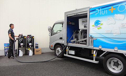 オイルタンクの残量検知で自動受注・発送を実現する『IBCローリーサービス』