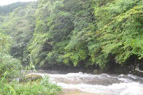 台風10号の接近で増水し18人が孤立した大谷渓谷