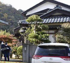 高齢の親子3人が殺害された住宅=18日、福井県敦賀市