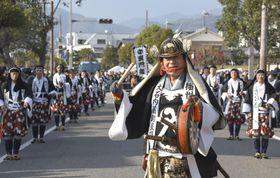 「赤穂義士祭」で大石内蔵助役を務める高橋英樹さん=14日午後、兵庫県赤穂市