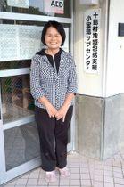 小宝島にIターンし看護師として働く竹下和子さん=十島村小宝島