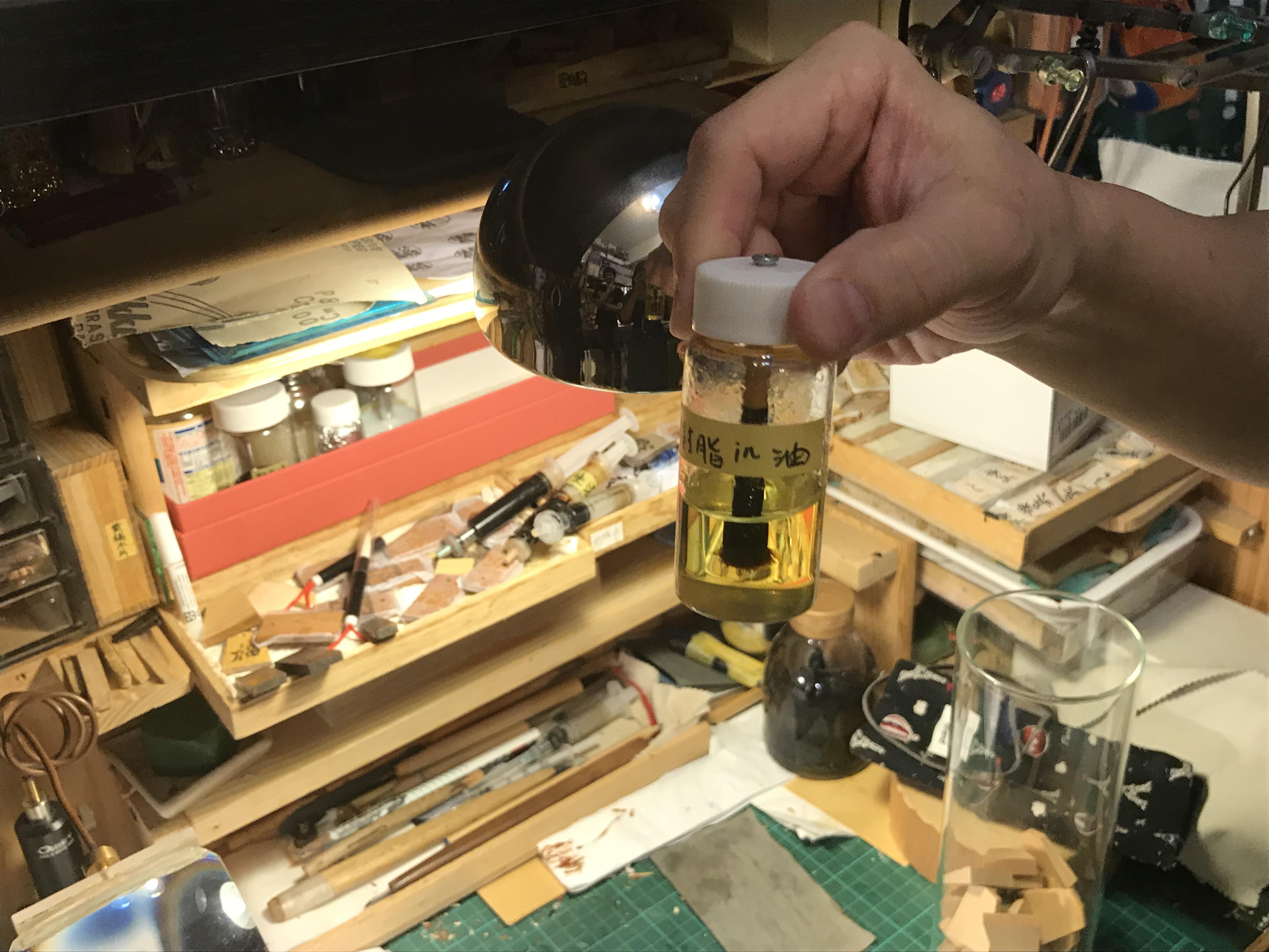 道具類も林さんの自作