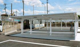 JR伊予横田駅に完成した新しい駐輪場