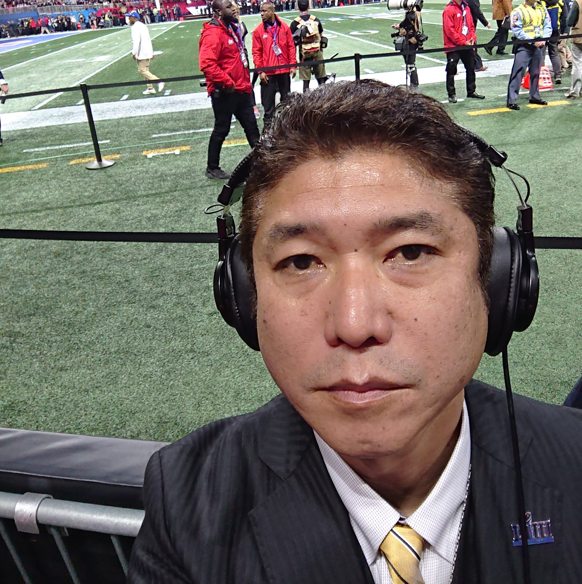 第53回スーパーボウルで、NHK―BSのフィールド解説者を務めた生沢浩さん