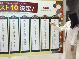 「第31回サラリーマン川柳コンクール」の投票結果発表会=23日午前、東京都千代田区