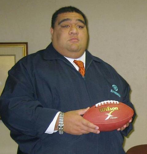 第3回世界選手権(川崎大会)の親善大使に就任した大相撲の武蔵丸親方=2007年、両国国技館