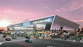 BB秋田が記念試合で紹介した新スタジアムの完成イメージ
