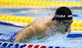 男子200メートルバタフライ決勝 優勝した瀬戸大也=東京辰巳国際水泳場