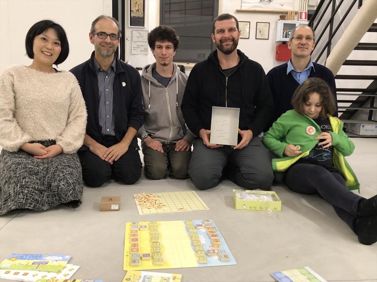 フィレンツェ囲碁クラブのメンバーと記念写真