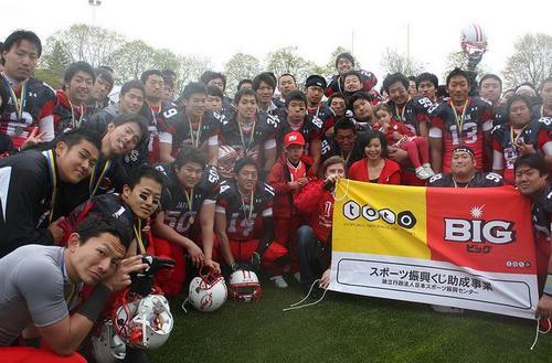 準優勝の大学日本代表メンバー=写真提供:日本アメリカンフットボール協会