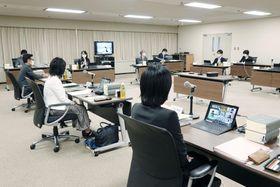 改正刑法の性犯罪規定について議論する検討会の初会合=4日午後、法務省