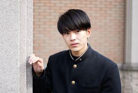 男子高生ミスターコン2018でグランプリ獲得を目指す豊田さん=富岡西高