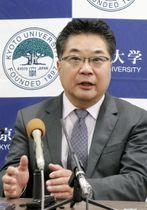 「ブレークスルー賞」に選ばれ記者会見する京都大の森和俊教授=7日午後、京都市
