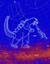 NASAなどが参加する研究チームが認定した「ゴジラ座」のイメージ(NASA提供)