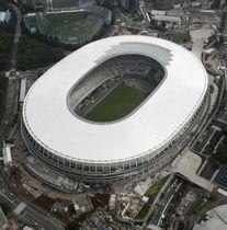 東京パラリンピックの開会式・閉会式の会場となる新国立競技場=7月23日