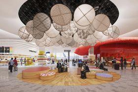 改修後の関西空港第1ターミナルの国際線出発エリアのイメージ(関西エアポート提供)