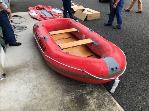 海老名市が購入した水難救助用ボート(同市提供)