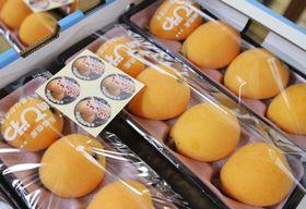 収穫と出荷のピークを迎えた長崎県産の露地ビワ「なつたより」=17日、長崎市