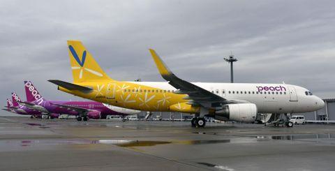 「黄色」のピーチ機運航