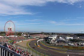 鈴鹿サーキットで行われた日本GP。最終コーナー前のスタンドには空席が目立つ=モビリティランド