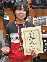 日本選手権で準優勝した岡本碧優。「世界で活躍できる選手になりたい」と意気込む=愛知県あま市