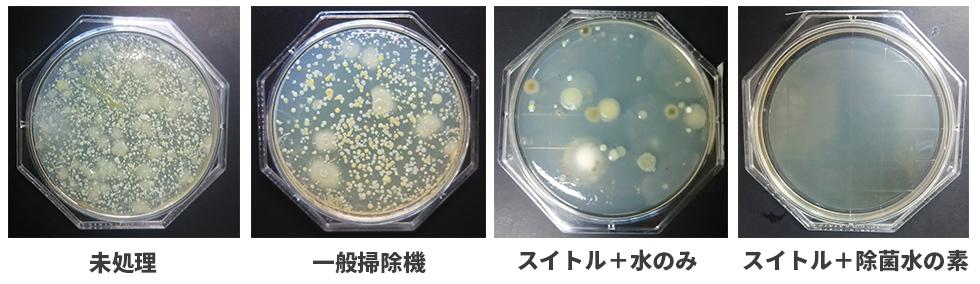 実験の結果、switleの除菌効果が優れていることが証明された。