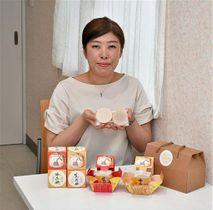 地元の日本酒を原料にしたせっけん商品を開発した豊川代表
