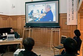 発表会で上映される生徒の作品=阿久根市のにぎわい交流館阿久根駅