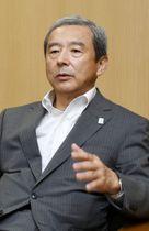 インタビューに応じる成田国際空港会社(NAA)の田村明比古社長