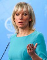 ロシア外務省のザハロワ情報局長=2018年12月、モスクワ(タス=共同)