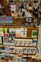 宮崎市の「蔦屋書店宮崎高千穂通り」に設けられているカズオ・イシグロさんの著作コーナー
