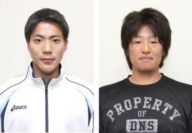 左から山県亮太、上野由岐子