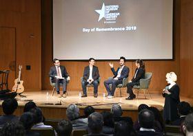 19日、米ワシントンのスミソニアン米国歴史博物館で開かれた、日系米国人強制収容の歴史を振り返るイベント(共同)