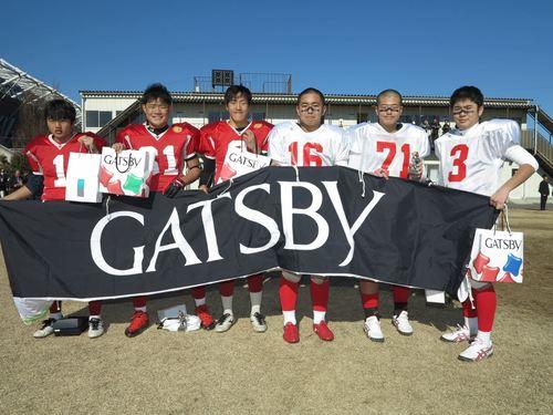 両チームの表彰選手たち=写真提供:東京都アメリカンフットボール協会、12日、アミノバイタルフィールド