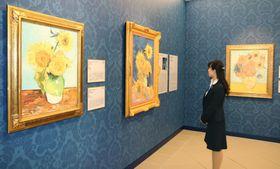 大塚国際美術館に新設された「ひまわり」の展示室=20日午前、徳島県鳴門市
