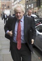英国のジョンソン前外相=19日、ロンドン(ロイター=共同)