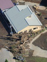 豪雨で9人が死亡した高齢者施設「楽ん楽ん」=2016年8月、岩手県岩泉町