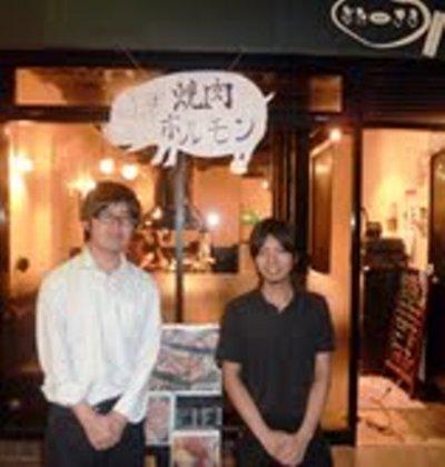 ■店長(右)とやり手営業部長