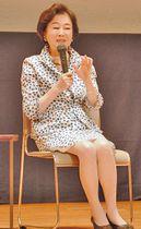 出演した黒沢明監督の「用心棒」での思い出などを語る司葉子さん
