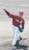 フェニックス・リーグの広島戦で先発し、6回1失点と好投した西口=宮崎県日南市の天福球場