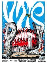 米西部モンタナ州で行われたパール・ジャムの公演のポスター(パール・ジャムのツイッターより、AP=共同)