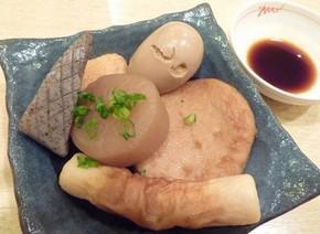 ショウガ醤油につけて食べる「姫路おでん」