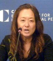 18日、ワシントンでのシンポジウムに出席した米国務省のジュリー・チャン日本部長(共同)