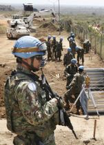 南スーダン・ジュバで活動する陸上自衛隊員=2016年11月(共同)